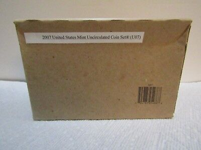 2007 P & D US MINT SET 28 Coins Uncirculated Philadelphia & Denver U07 Sealed