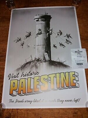 Banksy Palestine Poster Walled Off Hotel With Stamp And Receipt Not From The WT