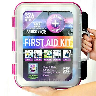 First Aid Kit -Emergency Glow in the Dark Kit 326 PCS OSHA ANSI approved