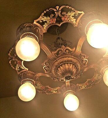 Vintage Lighting 1930s Virden Aldersyde chandelier More Available