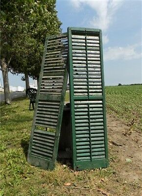 Antique Farmhouse Shutters Wood Door Window Shutters Architectural Salvage a