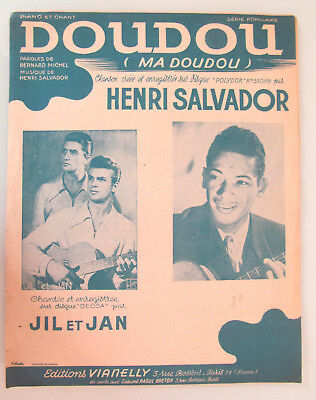 Partition DOUDOU (ma doudou) Henri SALVADOR Michel JIL et JAN