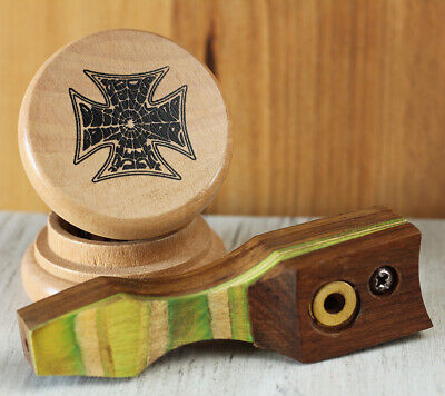 Gumby Hand Crafted Smoking Pipe Tobacco Premium Wood Pipe Med pot /& Herb Grinder