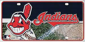 Cleveland Indians Metal License Plate