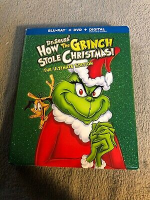 Dr. Seuss' How the Grinch Stole Christmas (Blu-ray/DVD) Slipcover No Code