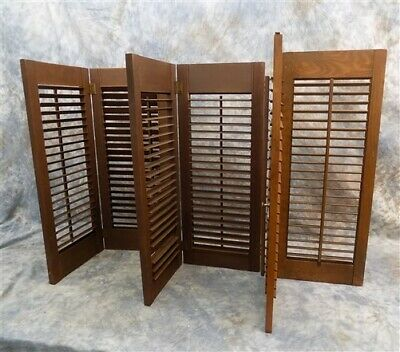 Wood Shutters Lot Victorian Window Louver Plantation Door Mission Vintage A48