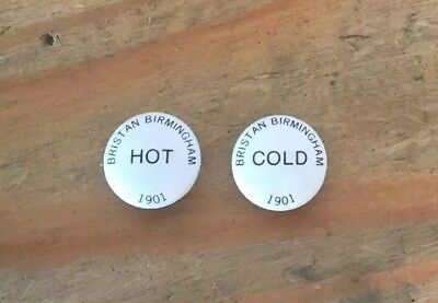 Hot & Cold Tap Head Indices 22.5 mm Ideal Basin Or Bath Taps - Bristan 1901
