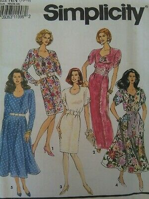 bf78237f52e Simplicity Sewing Pattern-Misses  Ms. Petite DRESS-Variations-Size