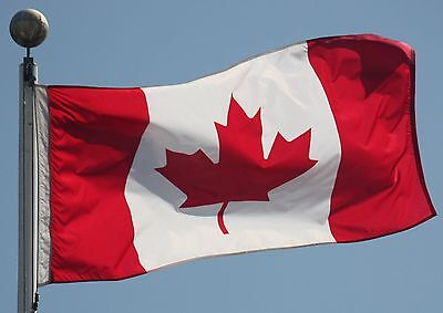 NEW 4x6 ft CANADA CANADIAN MAPLE LEAF CA FLAG WITH BRASS GROMMETS