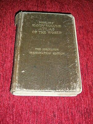Philips' Handy Volume Atlas Of The World The Spectator Edition 1935 Engraved Pla