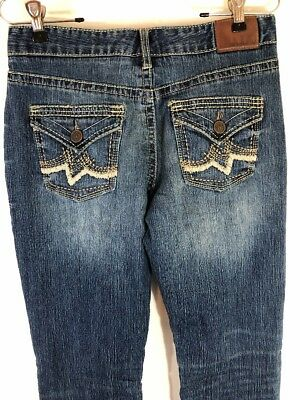 "0a103d4fd8d Maurices Curvy Women's Jeans Size 3/4 Tall Boot Cut 32"" Inseam Distressed"