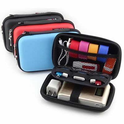 Portable Storage Box Earphone Case Mini Zippered Bag Phone Charger USB Organizer