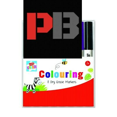 8 Kids Colouring Markers Pen   Washable Arts Crafts Design