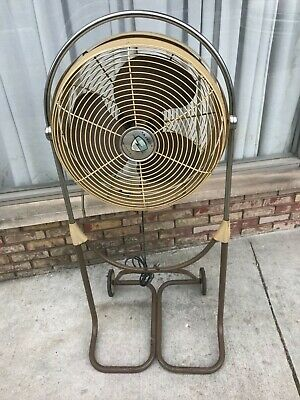 Vintage Emerson Floor Fan Model 89649 F With 53 Stand On