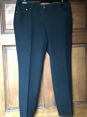 b24d9906cae2f4 Chicos Womens Pants Size 2 Short Black Knit Ankle Length Cotton Rayon  Spandex