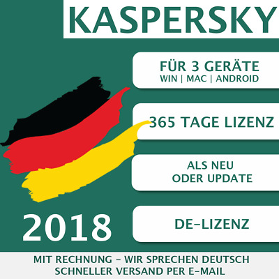 Kaspersky Internet Security 2018 DE 3 Geräte, 3 PC Multi-Device KEY ESD