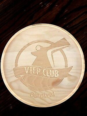 CARNIVAL CRUISE LINE Wooden Box Gift for VIFP Members Only NOTE PAPER & PEN