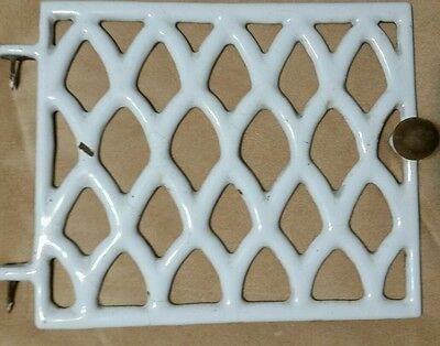 Vintage Porcelain Heat Grate Floor Door Register