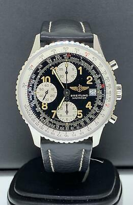 Breitling Old Navitimer 41.5mm Stainless Steel Black Leather Strap Ref. A13022