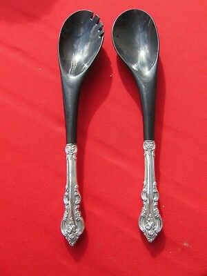 1964 El Grandee Pattern 2 Piece Salad Tossing Set by Towle Sterling Handles