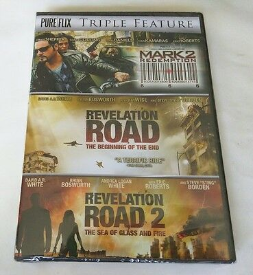 "DVD-Triple Feature: Mark 2-Redemption/Revelation Road/Revelation Road 2 ""NEW"""