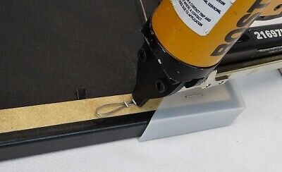 Picture frame wire air staple gun for hanging wire w/1bx staples  21697B