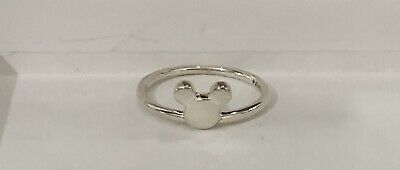 3a3a5d0f0 PANDORA Sterling Silver Disney Mickey Silhouette Ring #197508-56 (7.5) NEW