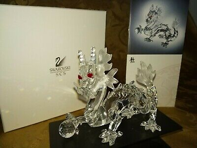NEW 1997 Swarovski THE DRAGON Crystal ANNUAL Edition Fabulous Creatures BOX COA
