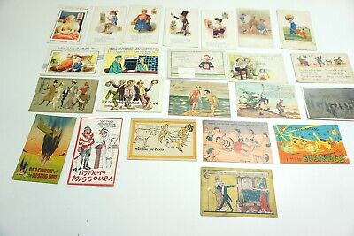 Lot Of 23 Antique & Vintage Postcards All Funny / Comic Related