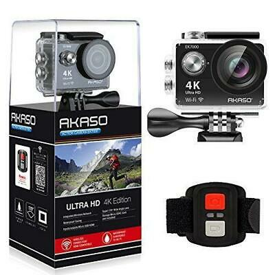 AKASO EK7000 4K WIFI Sports Action Camera Ultra HD Waterproof DV Camcorder 12M..