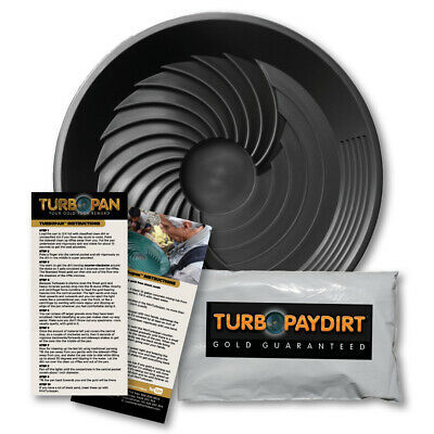Turbopan-Paydirt combo black gold pan prospecting nugget sluice Inventor