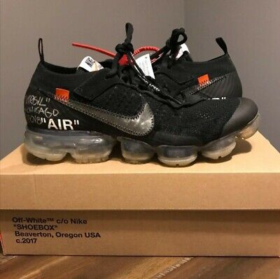 df91aab1d00 Nike Off White Vapormax Black 2.0 Size 9.5 Signed By Virgil  verified by  goat