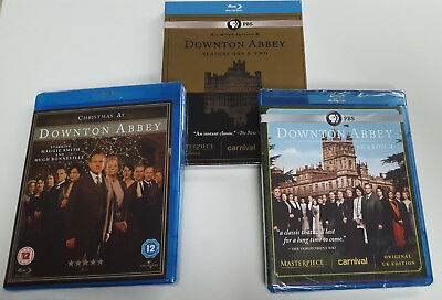 Downton Abbey Lot of 3 Blu-Rays: BRAND NEW Seasons 1, 2, 4 and Christmas Special