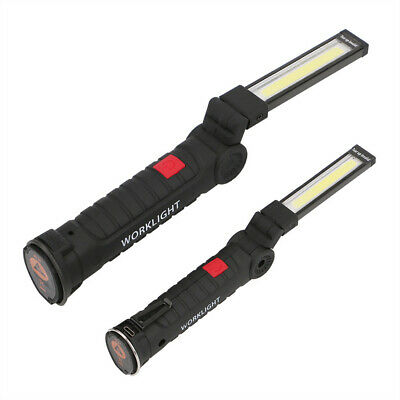 Rechargeable COB LED Work Light USB Flexible Magnetic Inspection Lamp Hand Torch