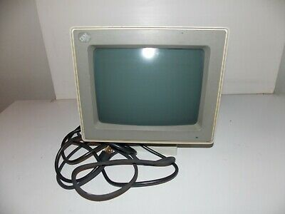 Vintage Old IBM 8 Pin PS/2 Monochrome Screen Computer Monitor Model 8503 8503001