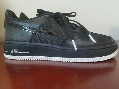 NWOB NIKE AIR Force 1 LV8 (GS) Shoes Black Summit White