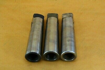 Lot Of 3   4-5 Morse Taper Drill Adapter Sleeves, Lathe, Drill Bit Sleeve, 5Mt