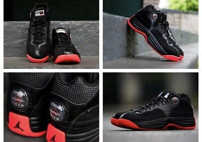 6ae470febcadd3 New SIZE 11.5 NIKE JORDAN JUMPMAN TEAM 1 SNEAKERS 644938 023 Black Infrared  Red