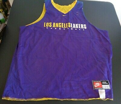 dadc15213e8 LOS ANGELES LAKERS Vintage NIKE Reversible Practice Style Jersey XXL Free  Ship
