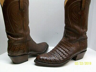 1e051878e6c LUCCHESE CLASSICS L1329 Belly Caiman 9.5 EE Men's Boots