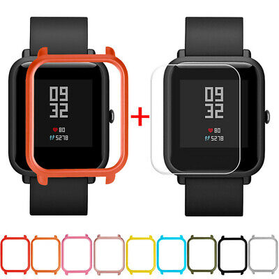 Case Cover Shell + Screen Protector For Xiaomi Huami Amazfit Bip Youth Watch Hot