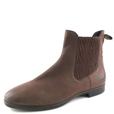 af5e54b33d9 $175 UGG AUSTRALIA Jo Chelsea Brown Leather Ankle Boots Women's Size 8.5 M*