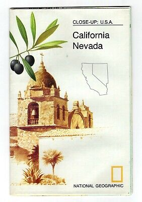 CALIFORNIA NEVADA 1974 VINTAGE NATIONAL GEOGRAPHIC MAP Wall Poster