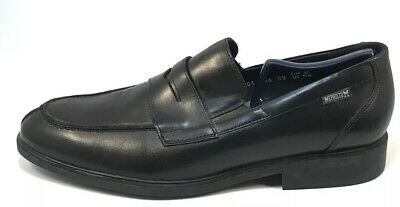 3d57eb1d79 Mephisto Mens Penny Loafers Air Jet Black Split Toe Made In France Sz 10.5