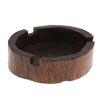 Southeast Asia Style Wood Ashtray Antique Ash Tray Art Table Cendrier 10x3cm