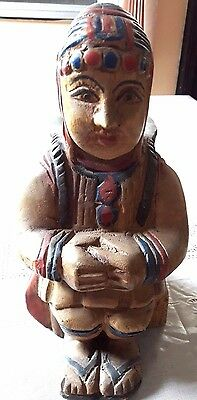 Vintage Thailand hand carved wood Lisu hill tribe tribal
