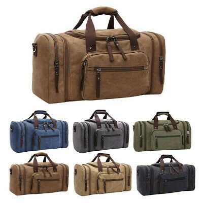Canvas Travel Tote Luggage Large Men's Weekend Gym Shoulder Duffle Bag Strap LOT