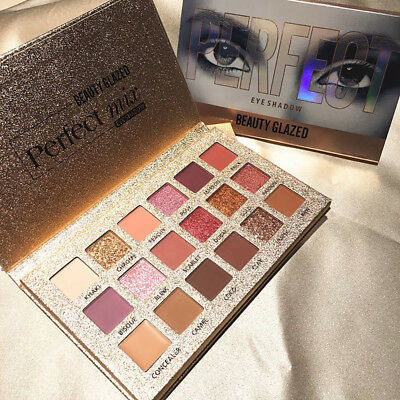 18 Colors Beauty Glazed Eye Shadows Palette Matte Glitter Eyeshadow Cosmetic US