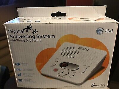 AT/&T 1740 Digital Answering Machine System 60 Minutes Recording Time//Date Stamp