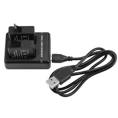 AHDBT-501 Battery +Dual Charger For GoPro Hero 5 / 6/7 Black 4.4V/800mA (x 2)